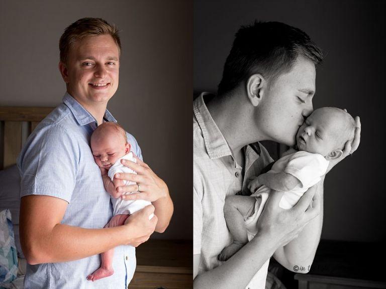 newborn baby girl and family