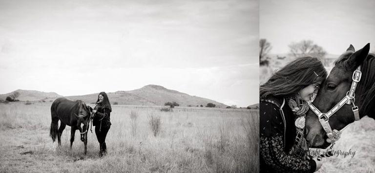 horse & woman portrait